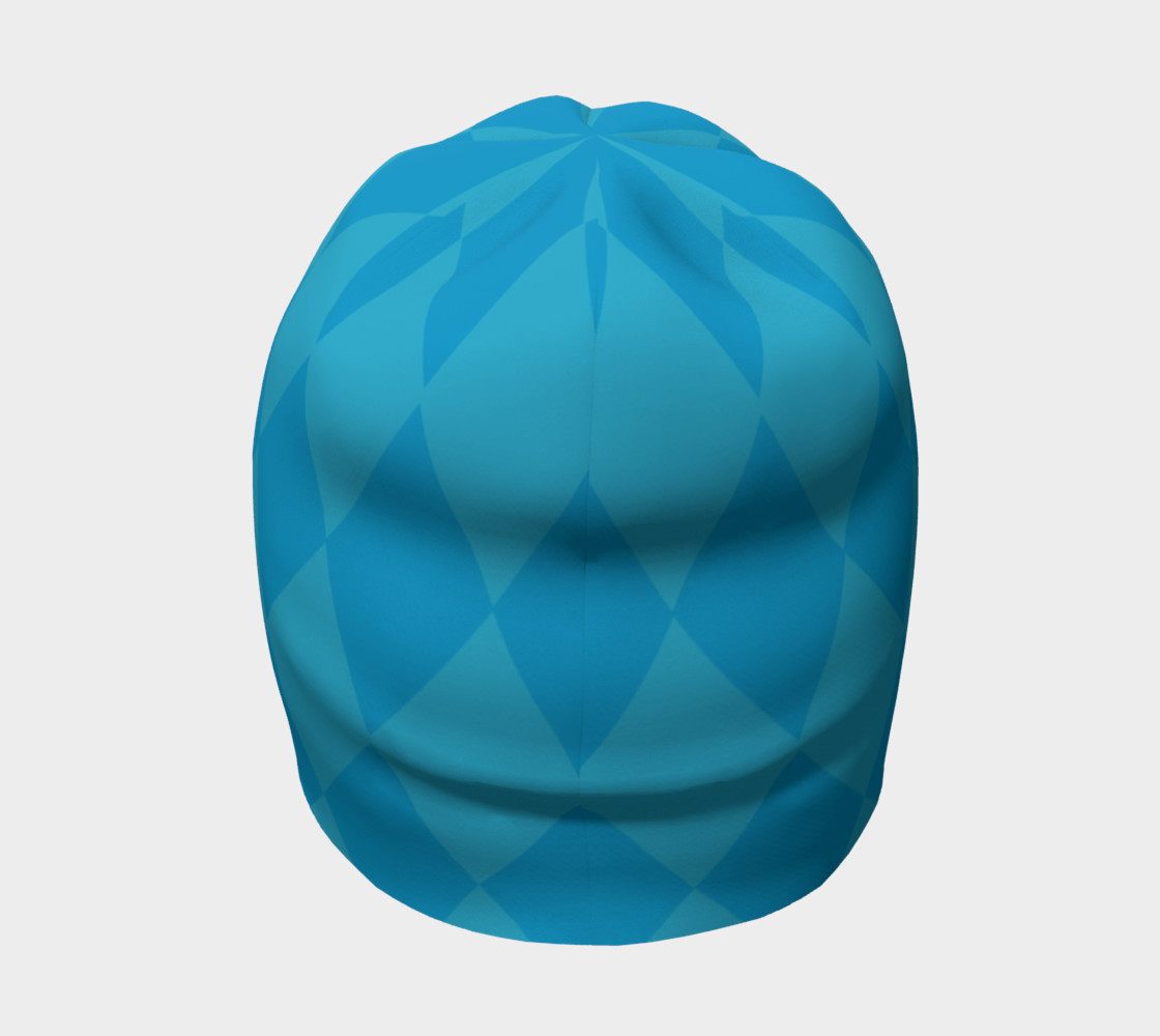 Harlequin Blue Beanie preview #4