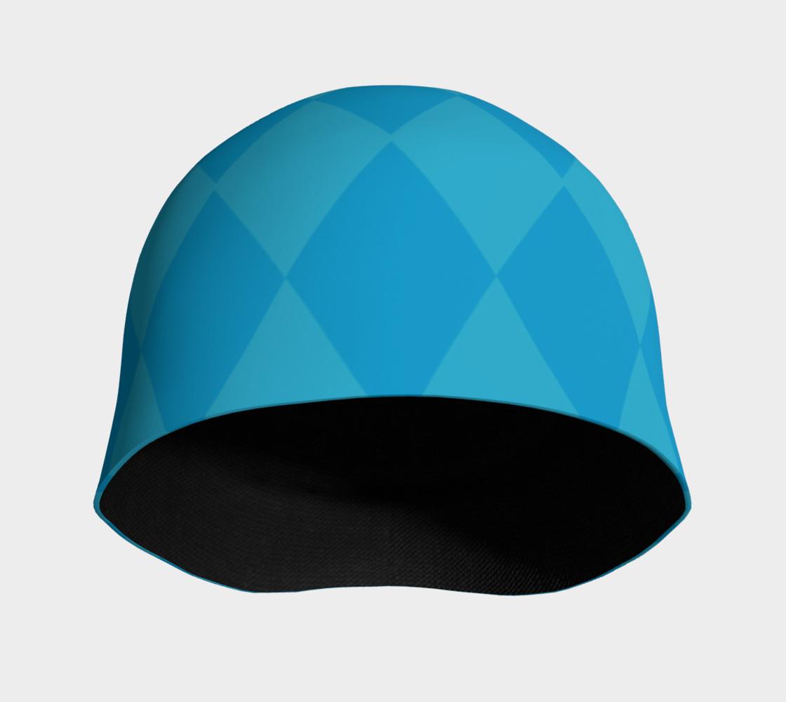 Harlequin Blue Beanie preview #3