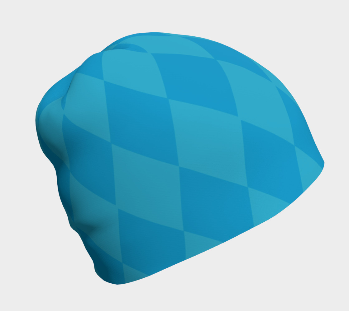 Harlequin Blue Beanie preview #1