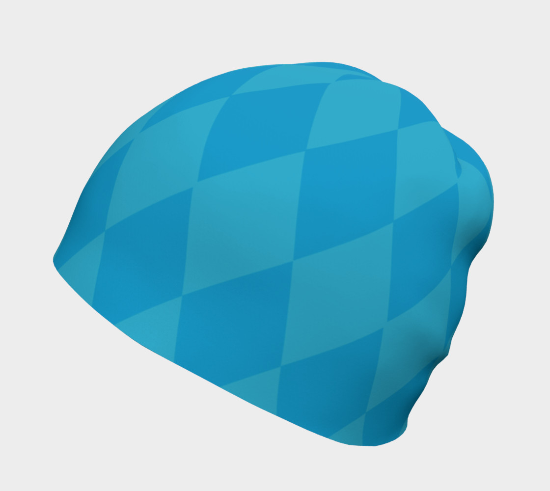 Harlequin Blue Beanie preview #2