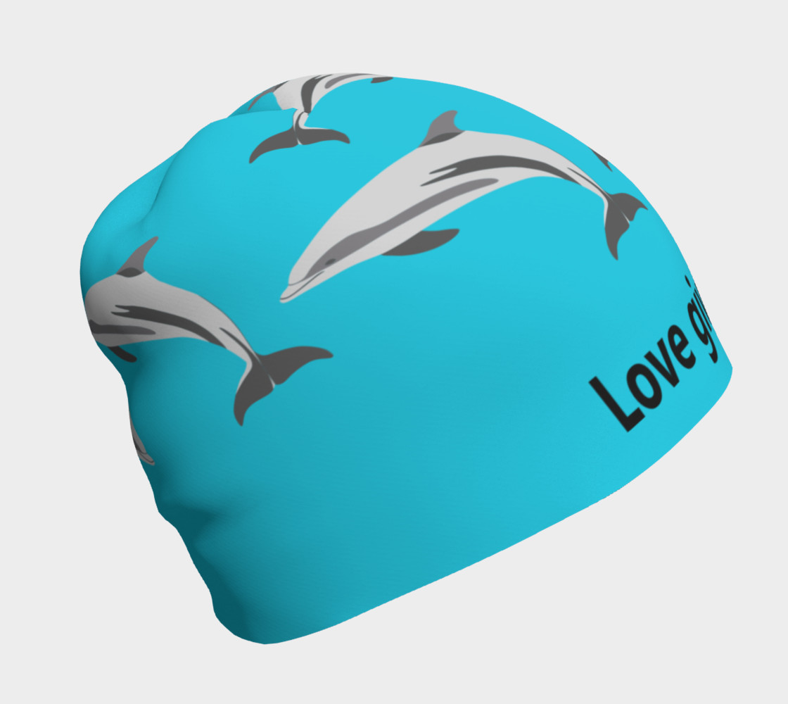 Love Gives Life Porpoise Beanie Miniature #2