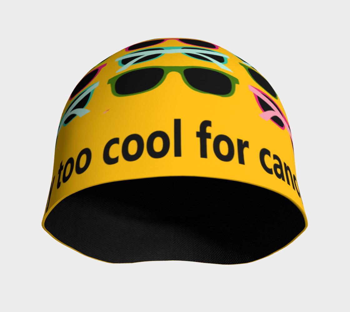 Aperçu de Way Too Cool For Cancer Beanie #3