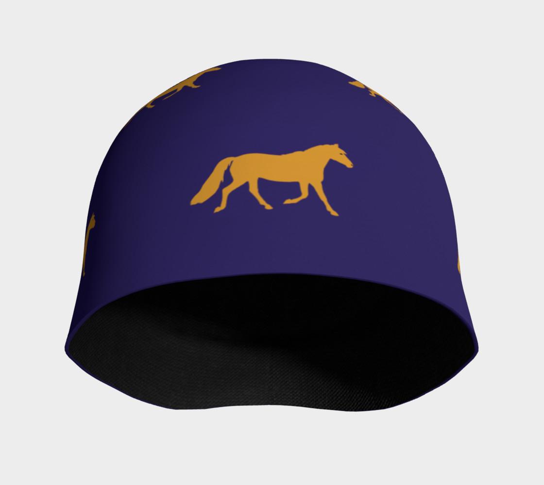 Aperçu de gold pony small on blue #3
