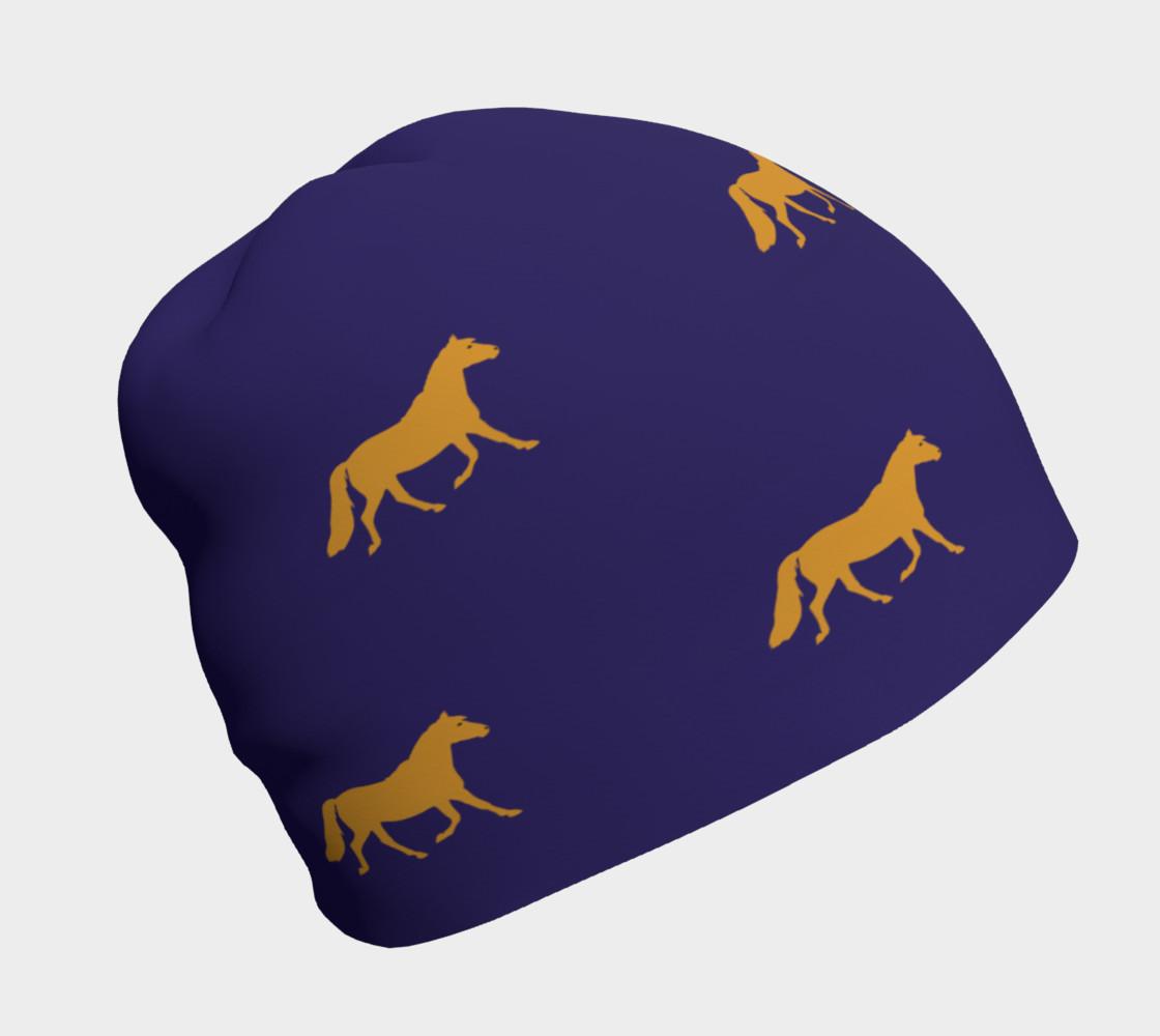 Aperçu de gold pony small on blue #1