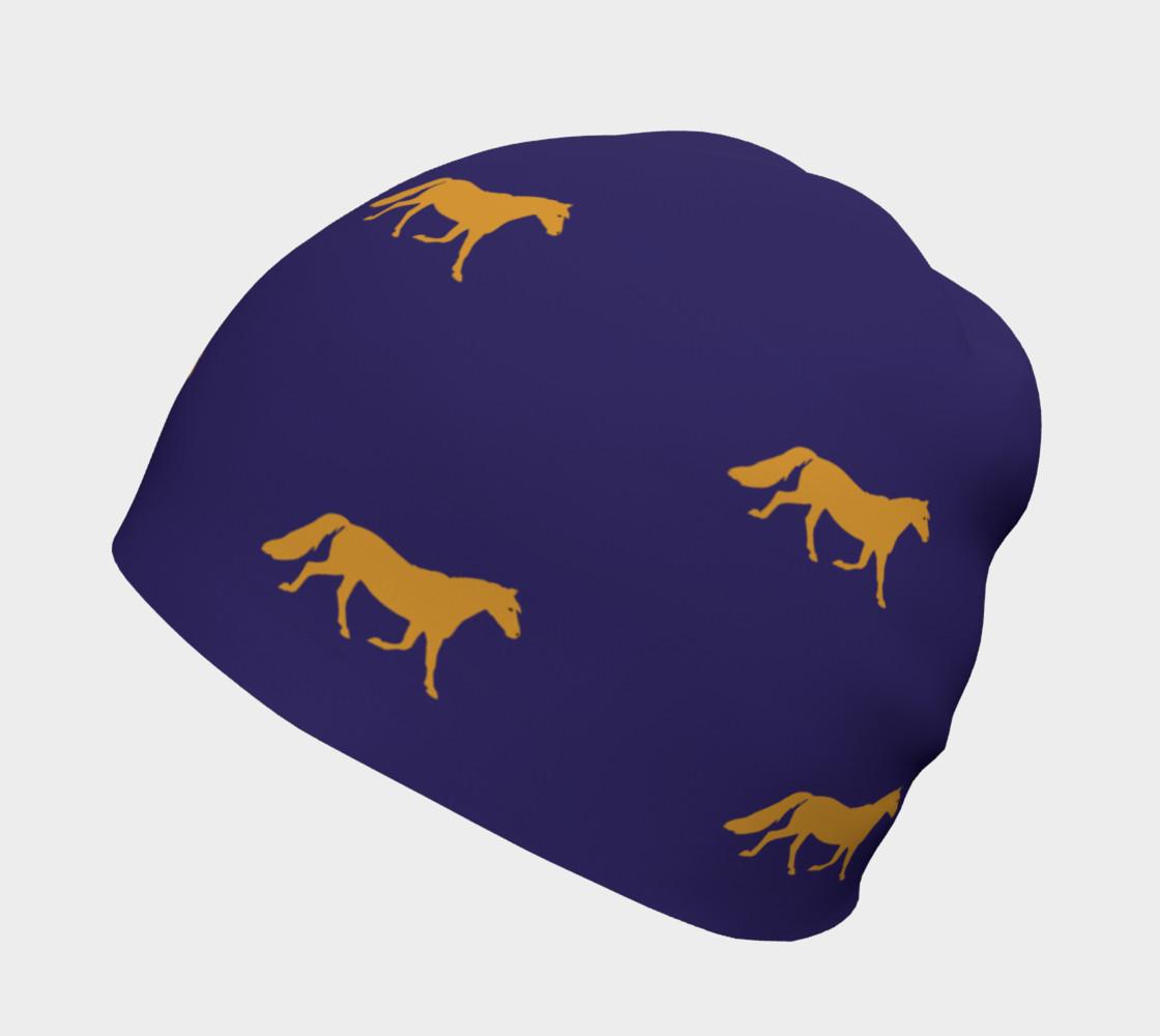 Aperçu de gold pony small on blue #2
