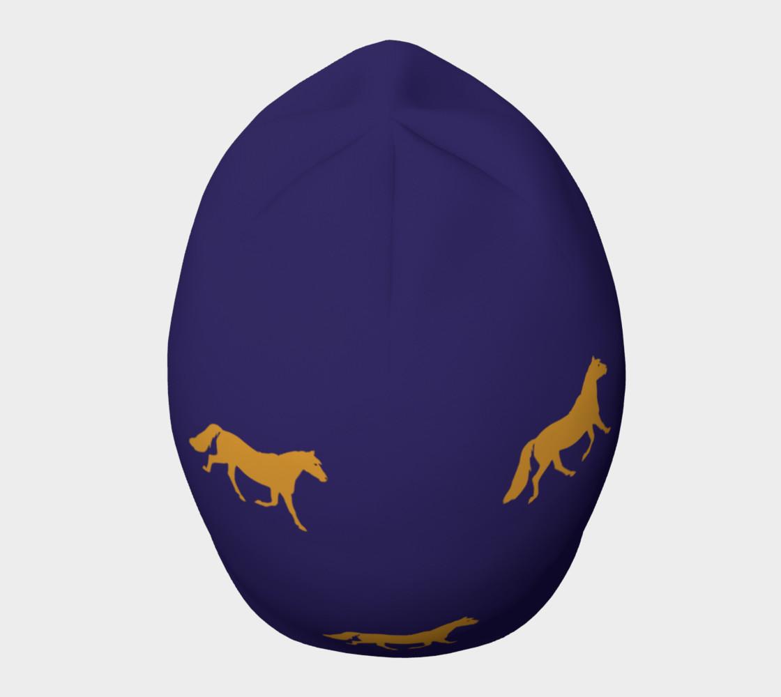 Aperçu de gold pony small on blue #5