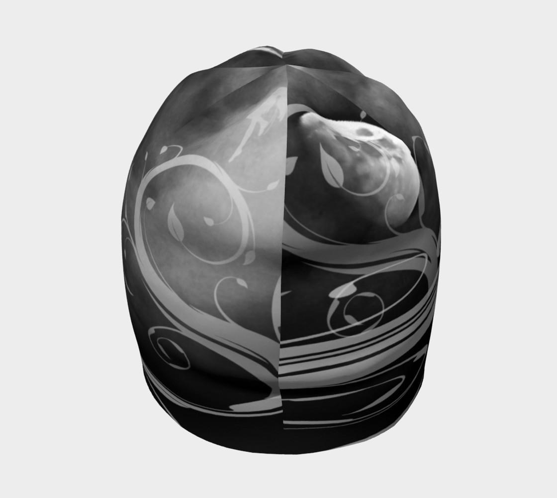 Aperçu de Black and White Moonstruck Beanie Cap #4