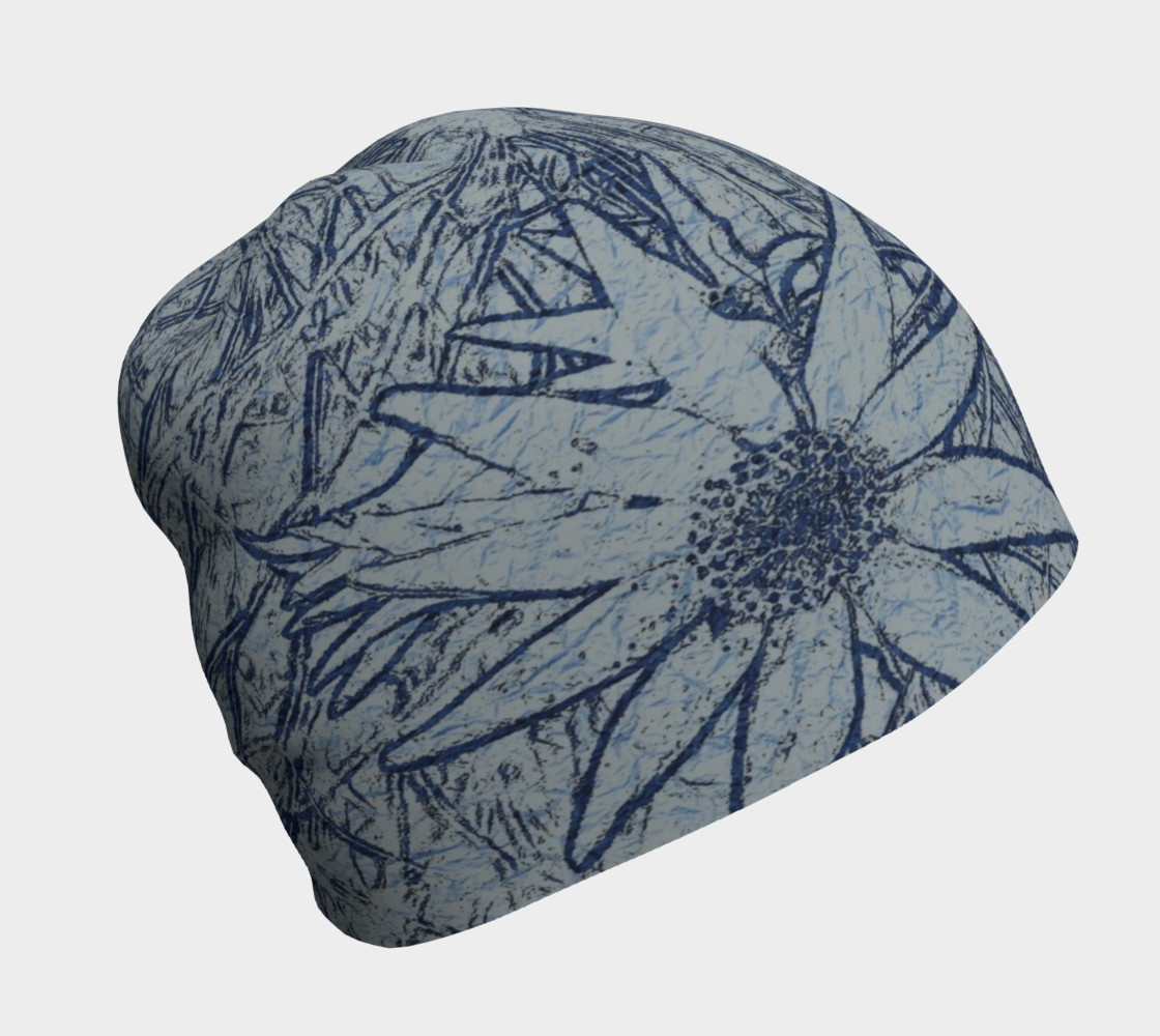 Flannel Flower Indigo beanie for her preview #1