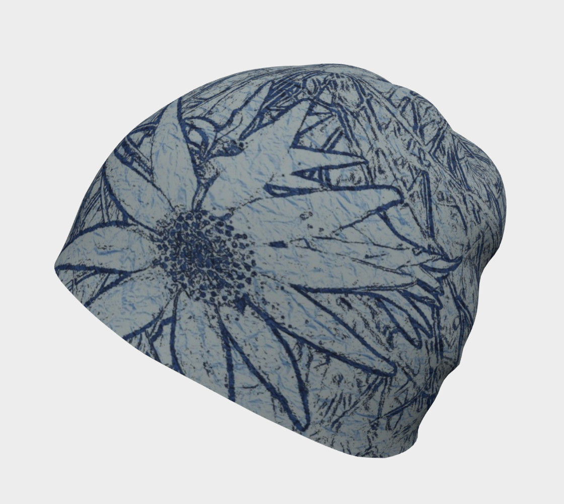 Flannel Flower Indigo beanie for her preview #2