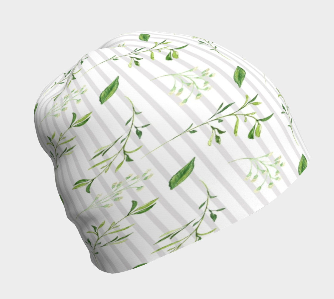 Summertime Greenery Beanie Hat preview #1