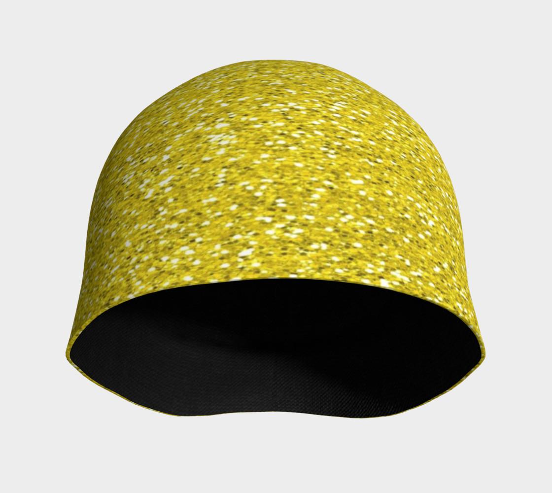 Aperçu de Gold Glitter Beanie Hat #3