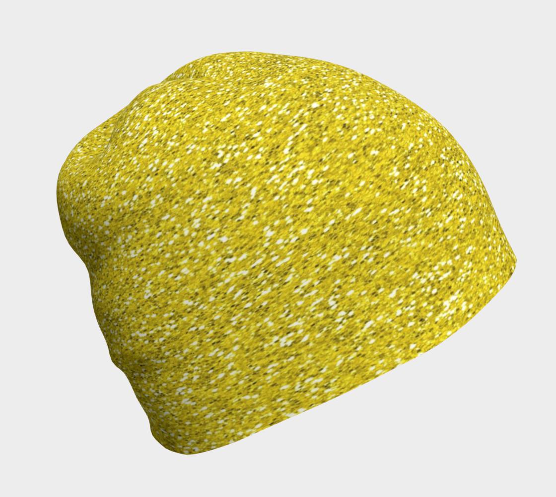Aperçu de Gold Glitter Beanie Hat #1