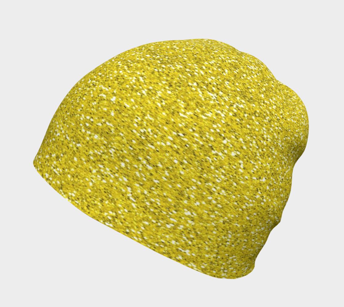 Aperçu de Gold Glitter Beanie Hat #2