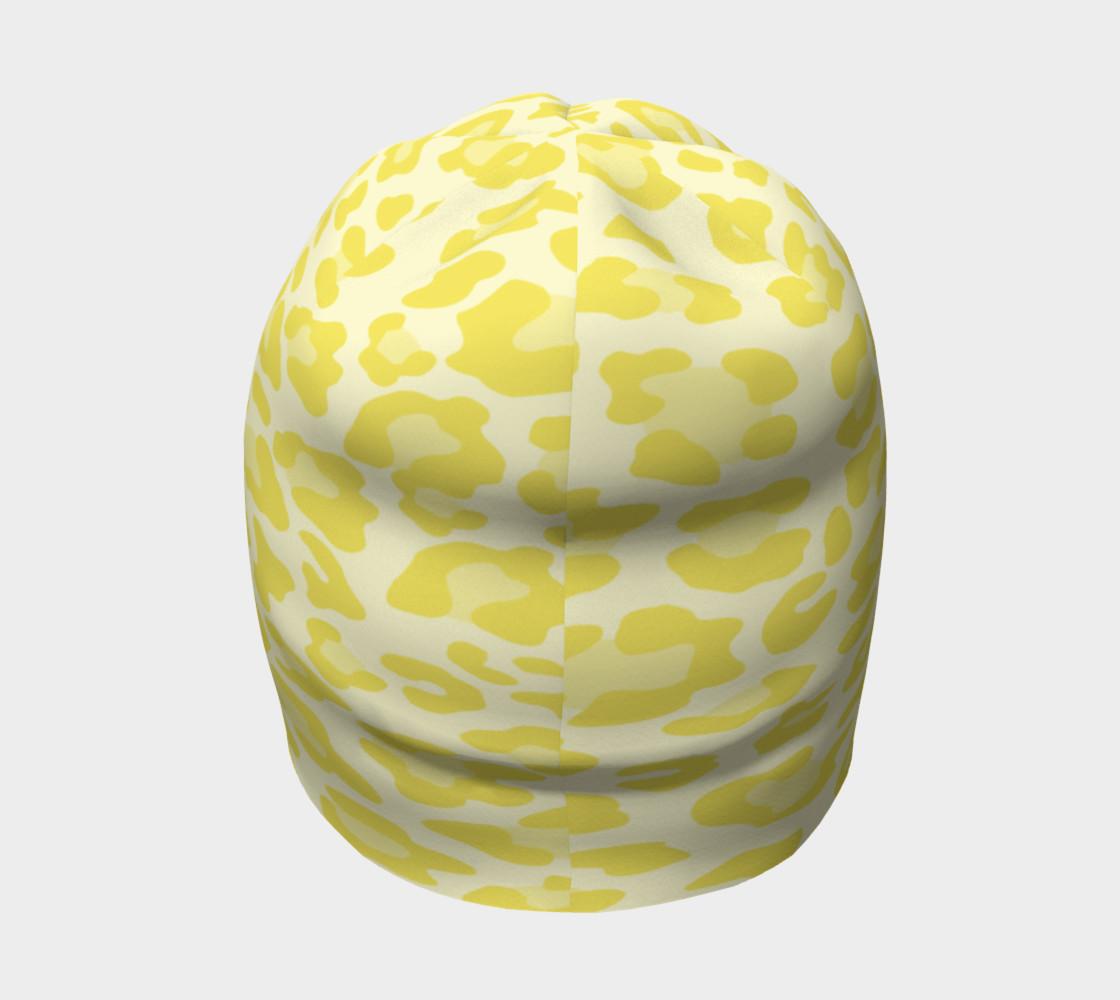 Aperçu de Yellow Leopard Beanie Hat #4