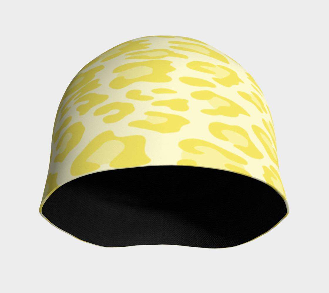 Aperçu de Yellow Leopard Beanie Hat #3