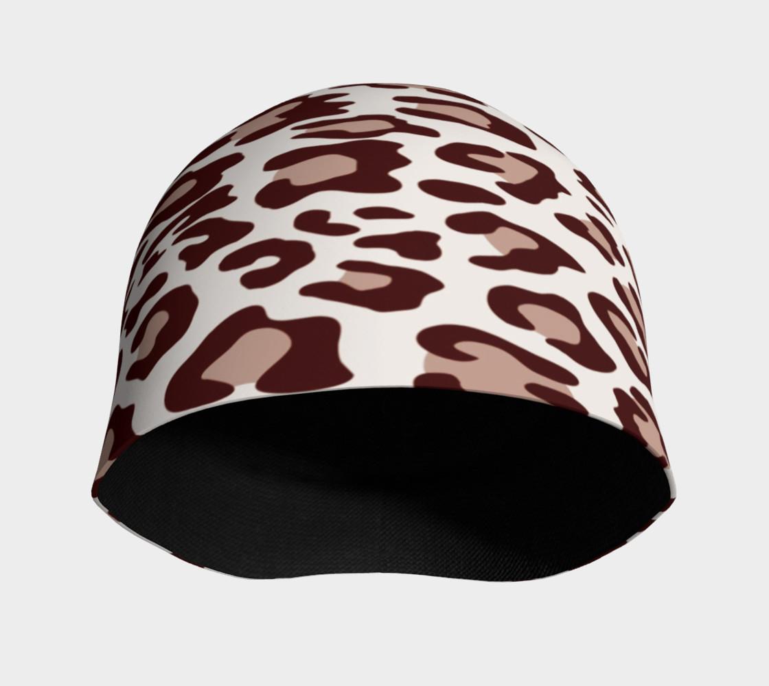 Aperçu de Brown Leopard Beanie Hat #3