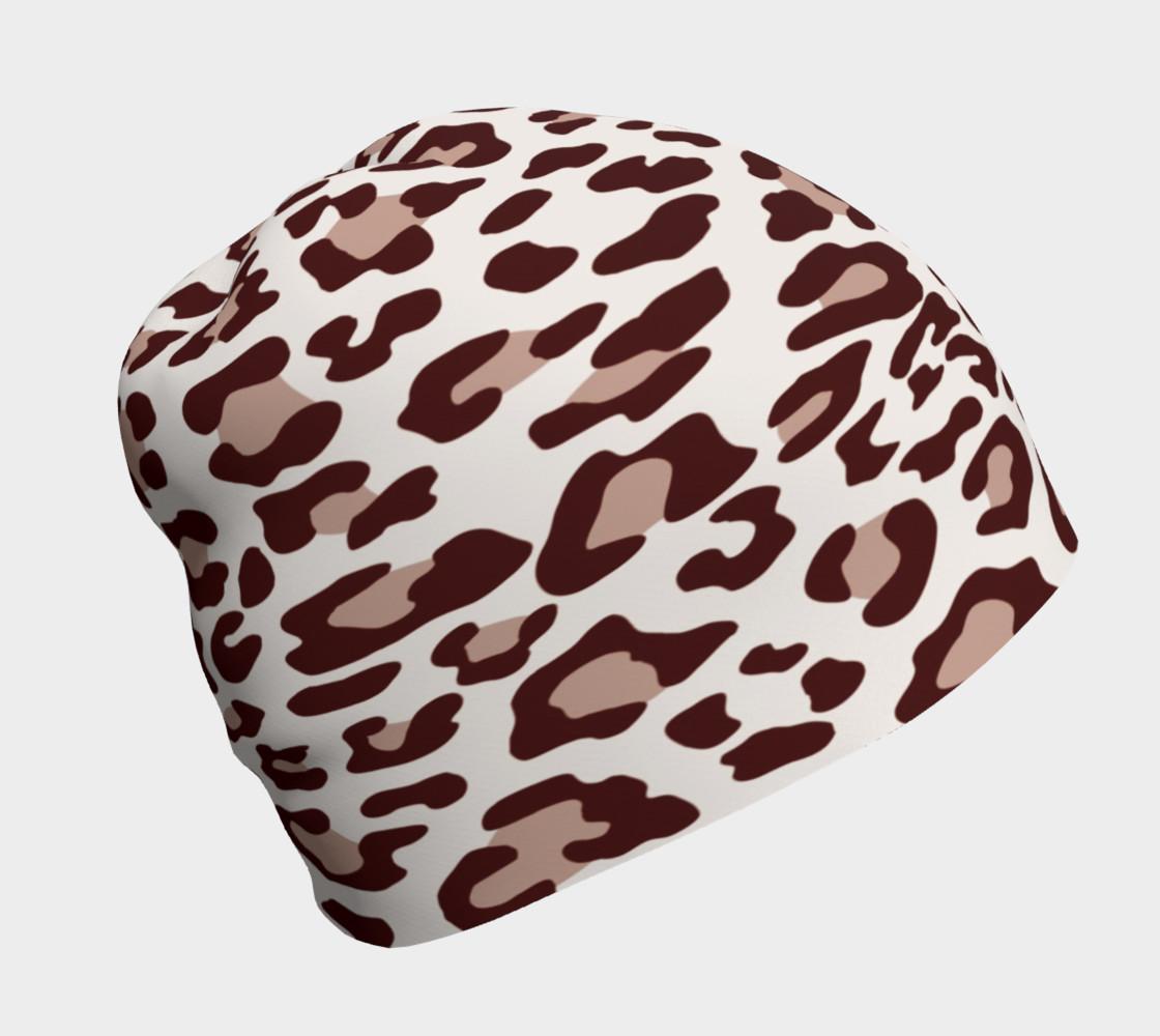 Aperçu de Brown Leopard Beanie Hat #1