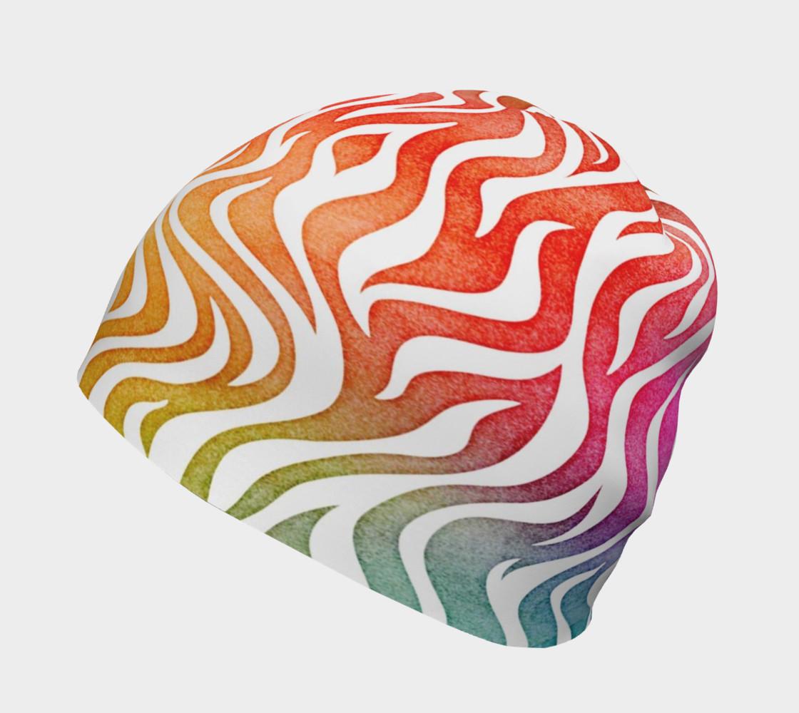 Aperçu de Rainbow Zebra Beanie Hat #2
