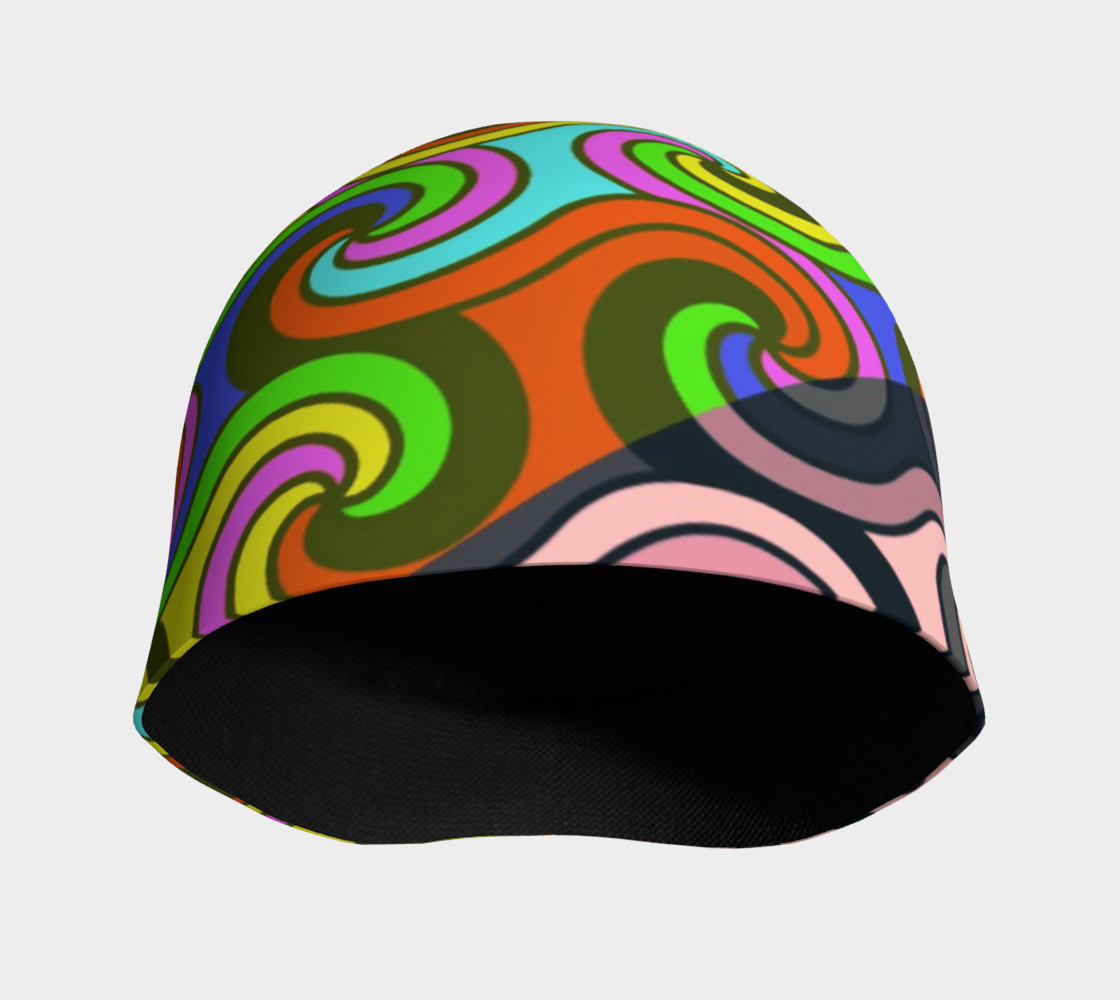 Geometric Swirly Multicolor Adult And Kids Beanie  preview #3