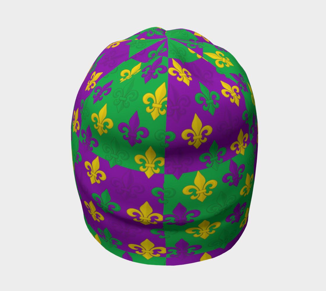 Mardi Gras Green Gold Purple Fleur-de-Lis Pattern preview #4