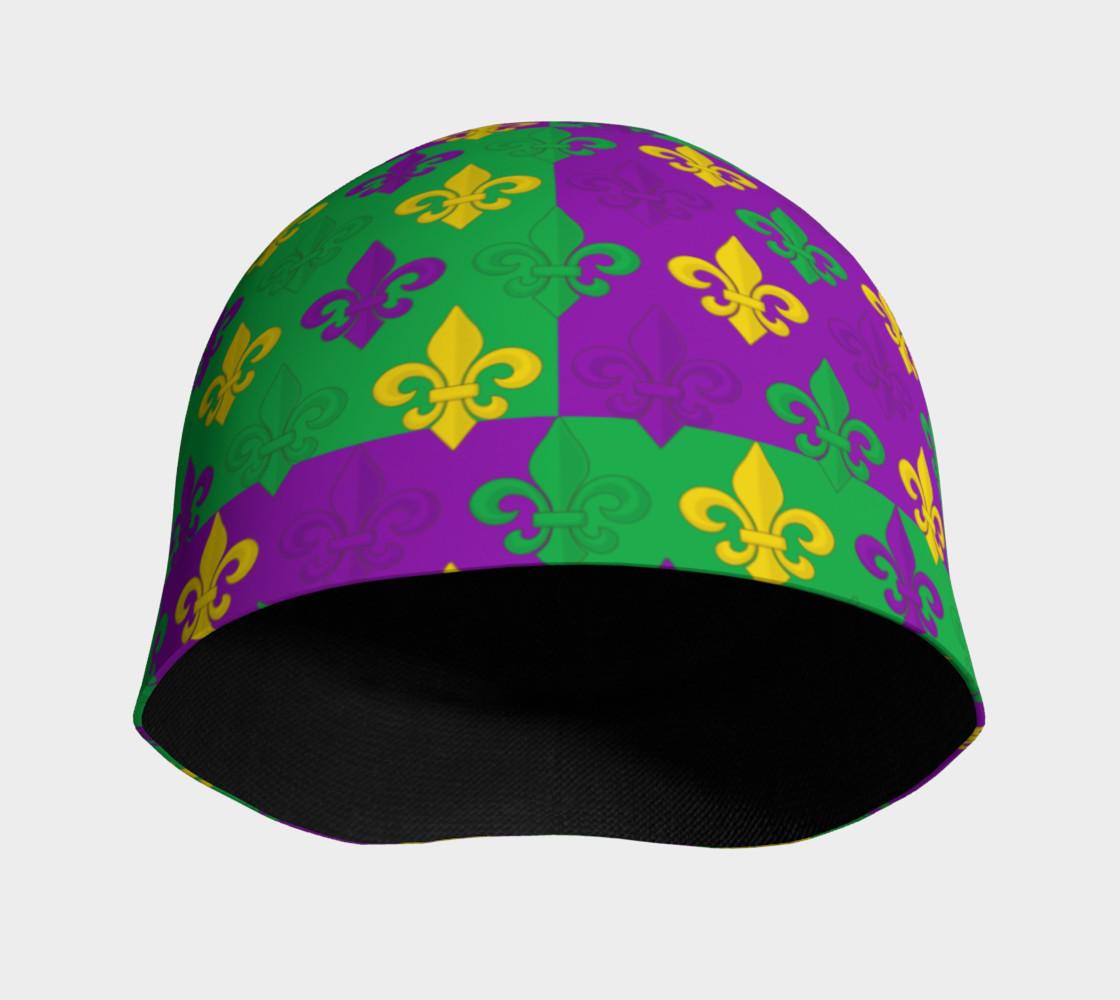 Mardi Gras Green Gold Purple Fleur-de-Lis Pattern preview #3
