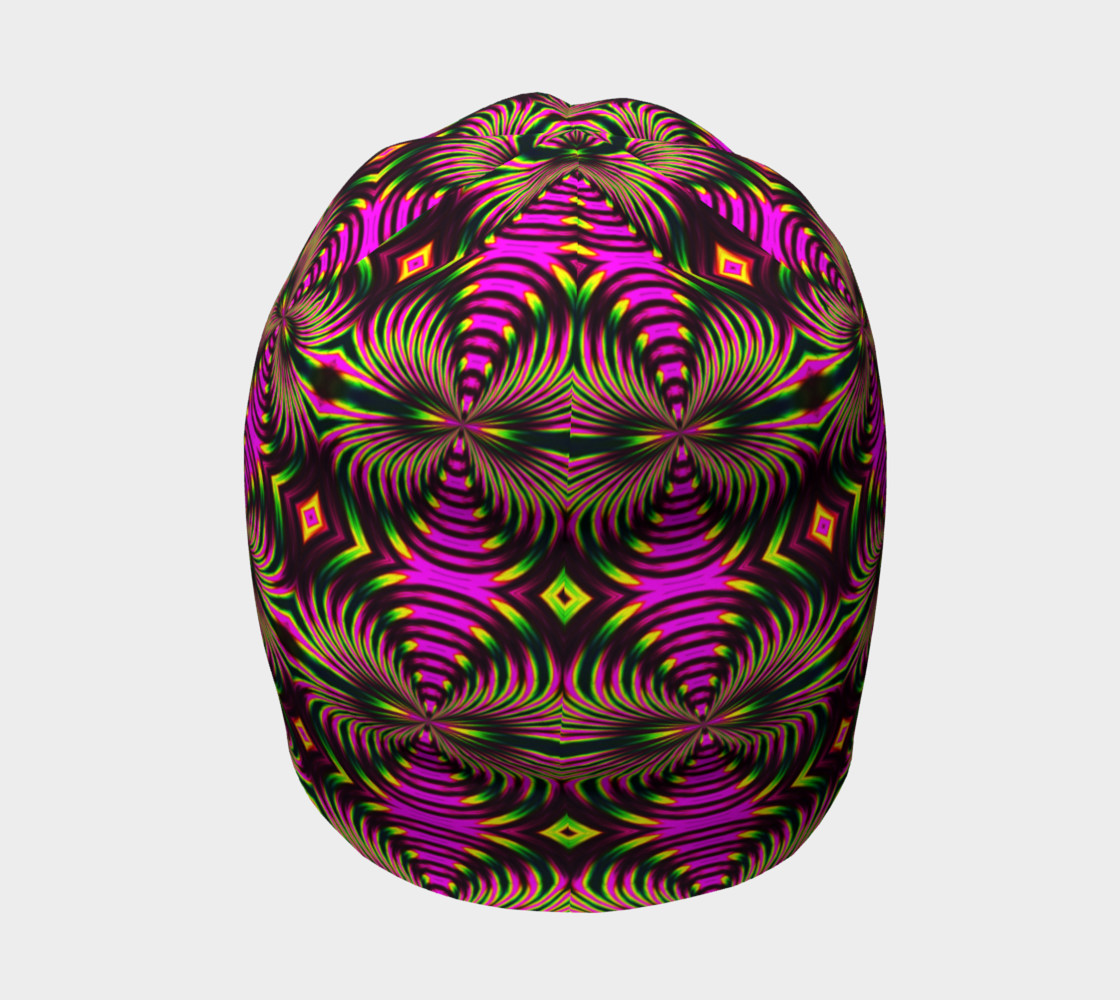 Psychedelic Flamingo Beanie preview #4