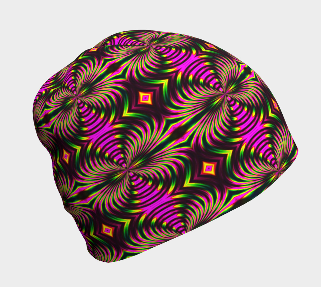 Psychedelic Flamingo Beanie preview #1
