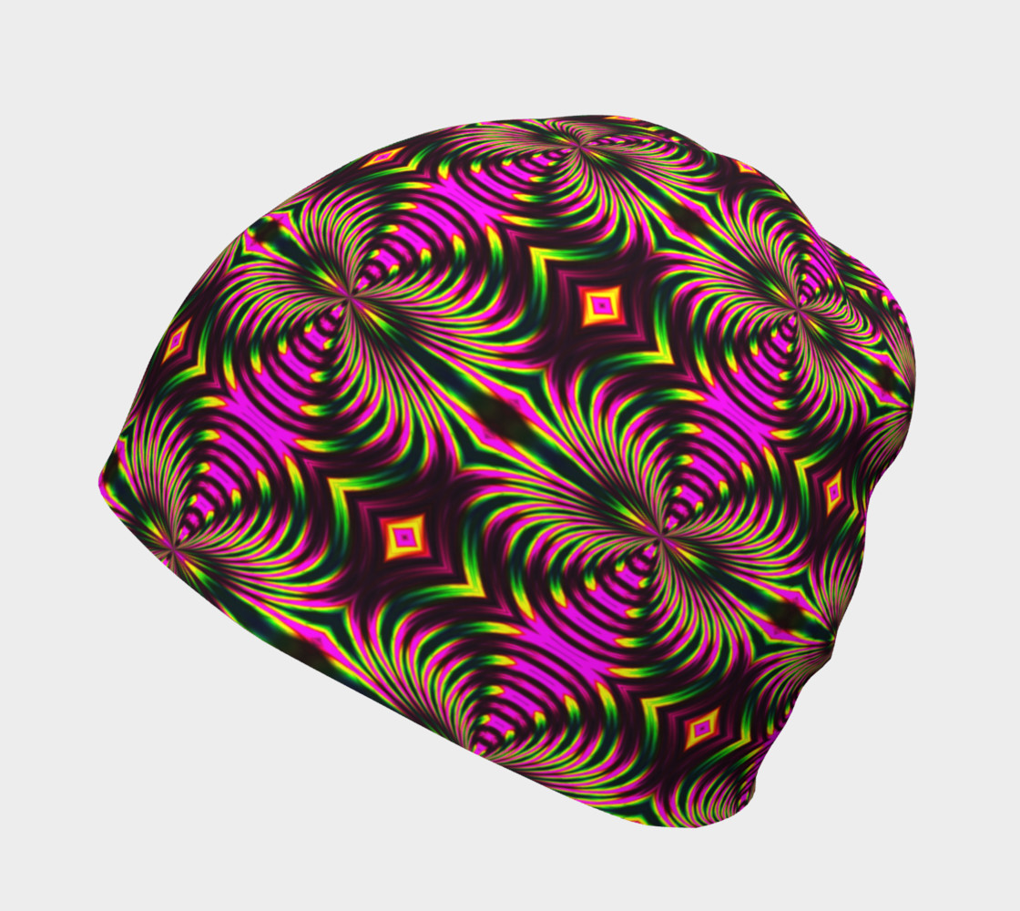 Psychedelic Flamingo Beanie preview #2