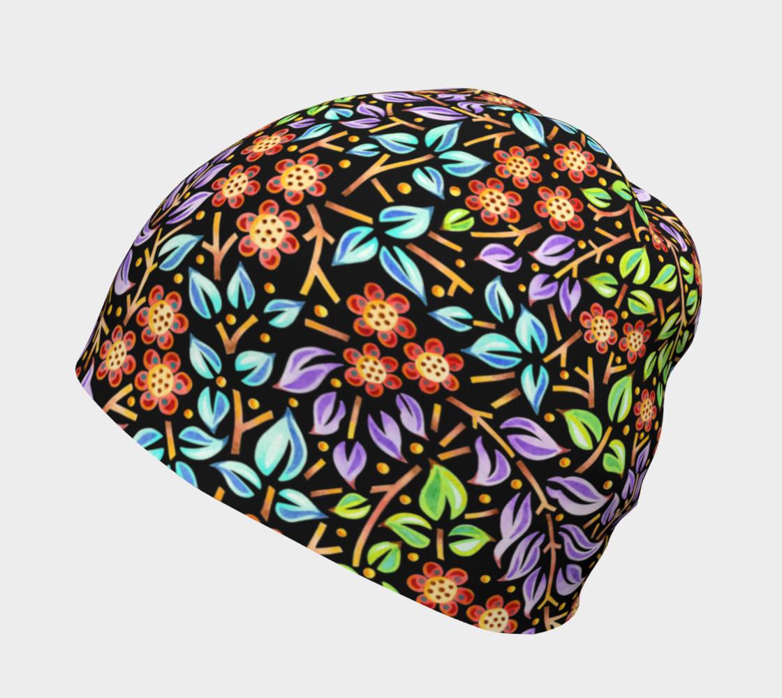 Aperçu de Filigree Floral Beanie smaller print #2