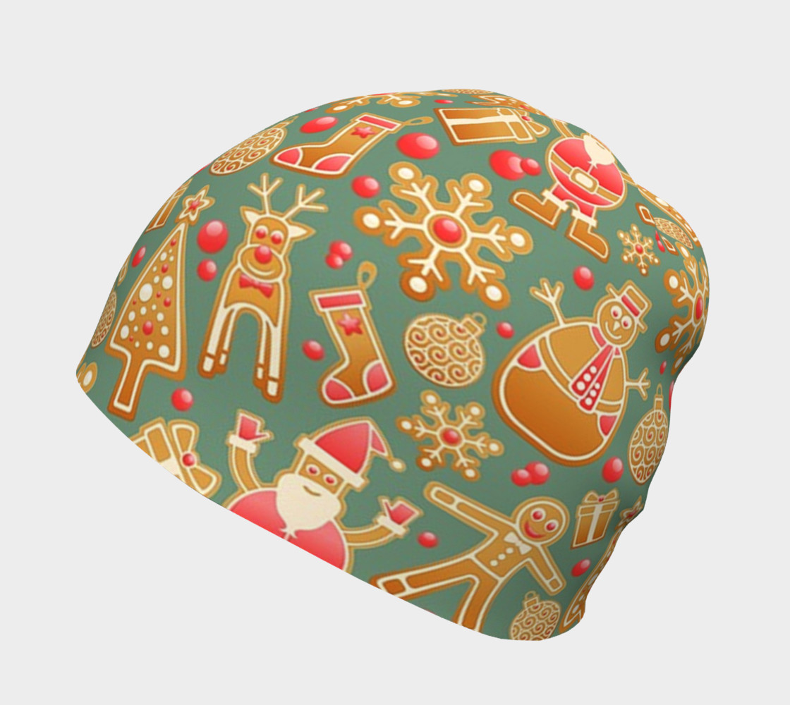1950s Christmas Gingerbread beanie preview #2