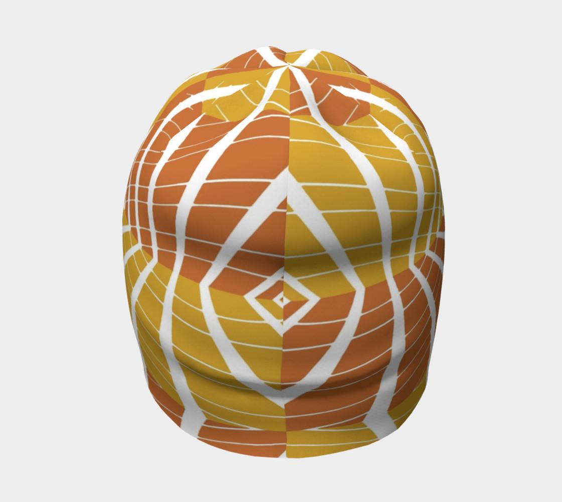 geometric pumpkin beanie preview #4