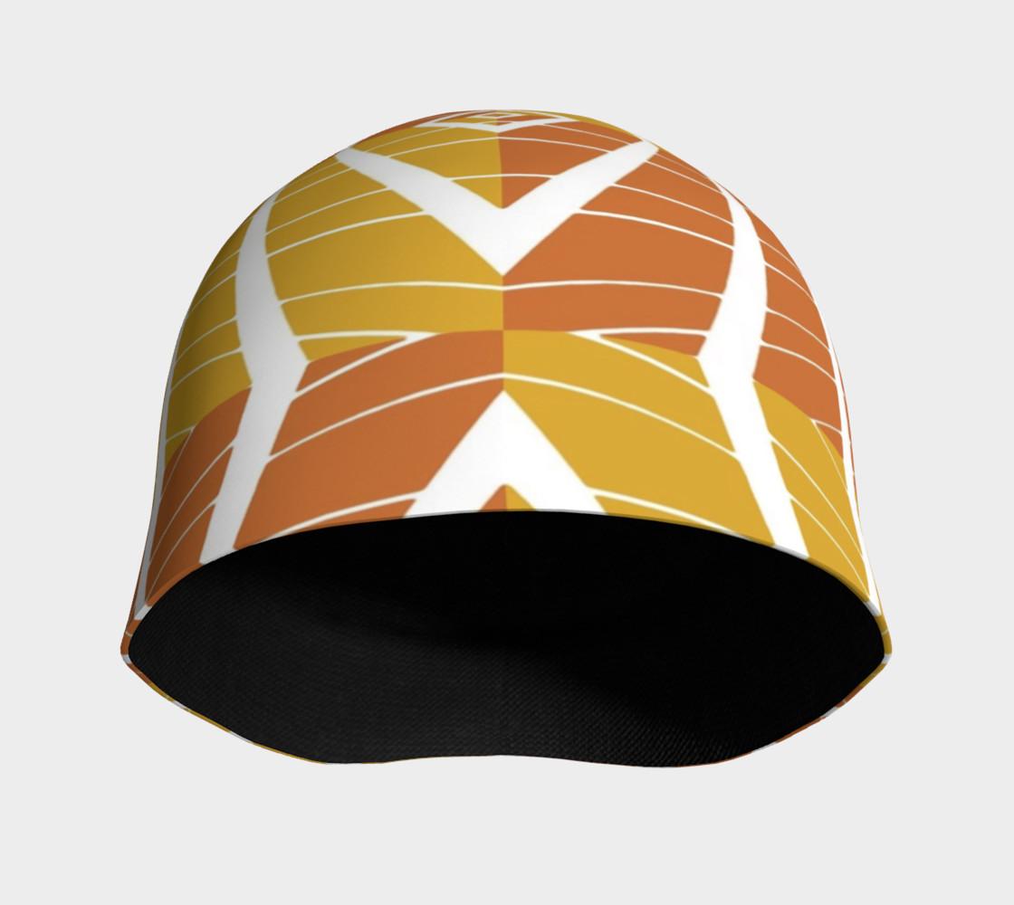 geometric pumpkin beanie preview #3