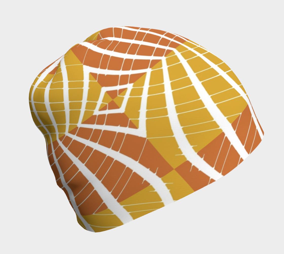 geometric pumpkin beanie preview #1
