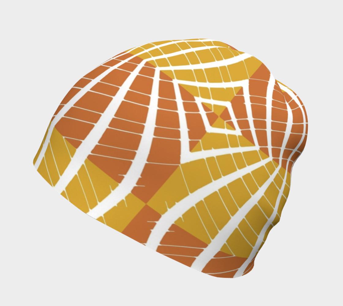 geometric pumpkin beanie preview #2