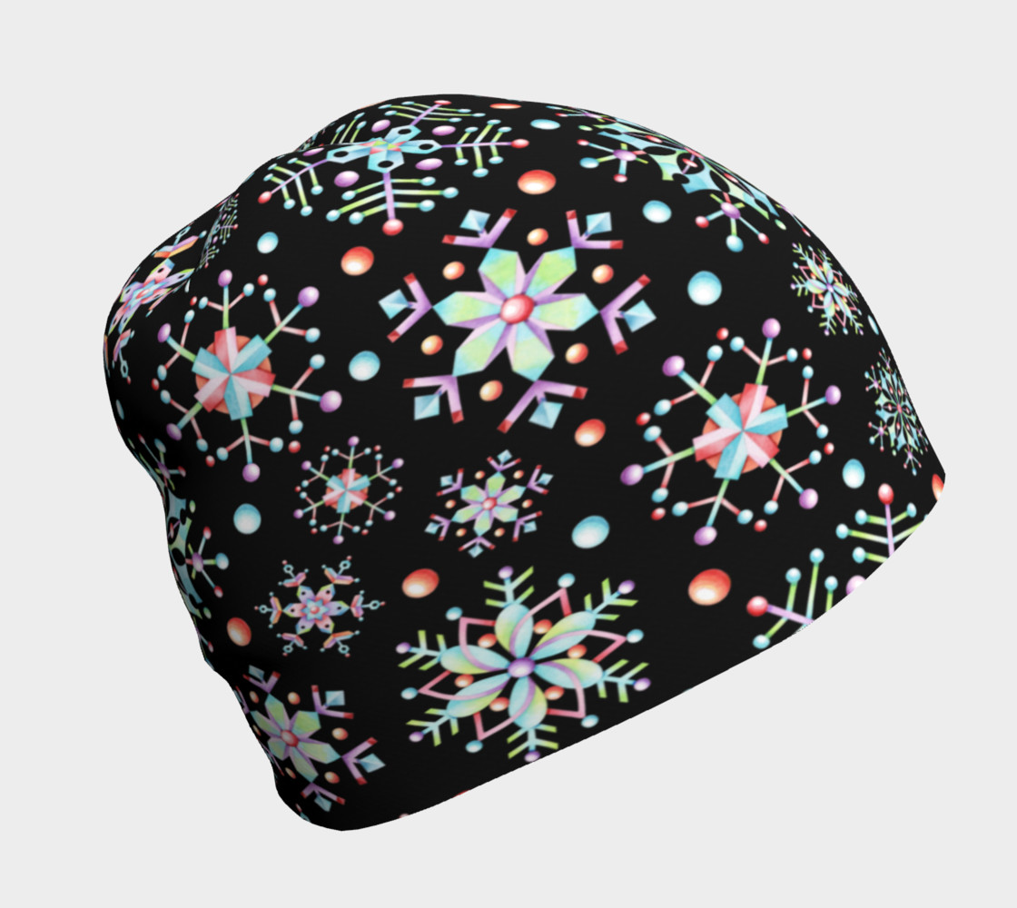 Aperçu de Prismatic Snowflakes Beanie #1