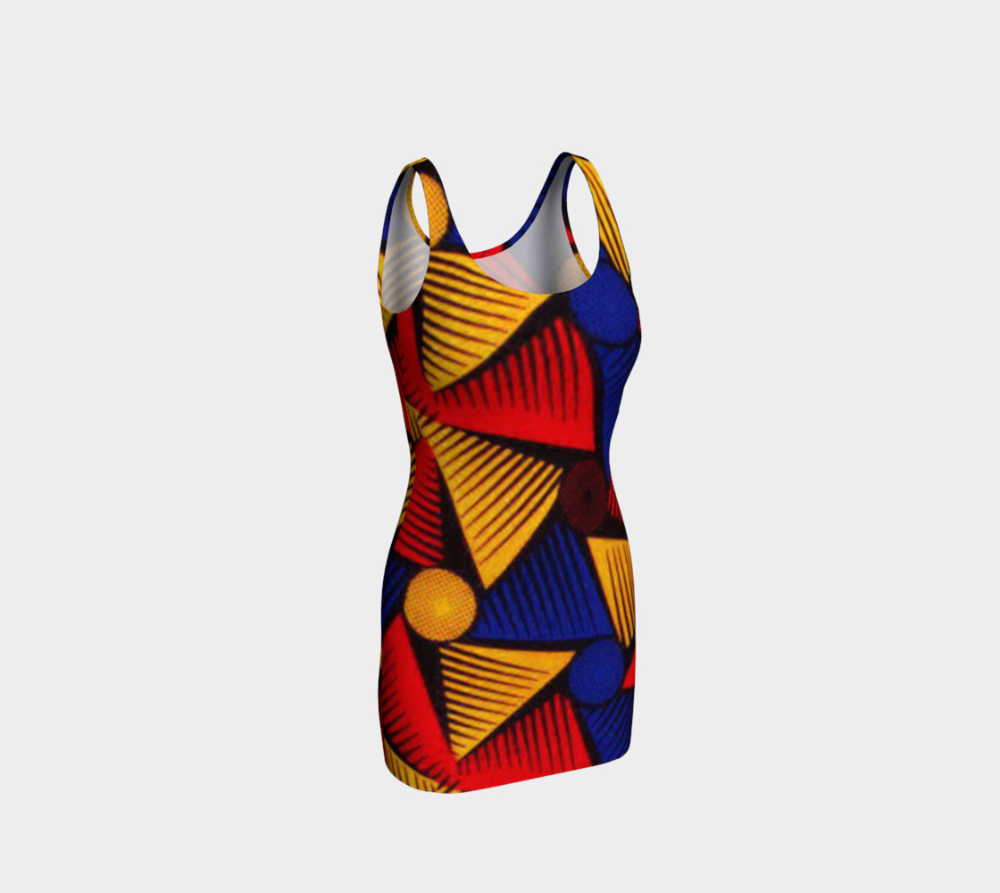 Aperçu de African Print bodycon dress #1