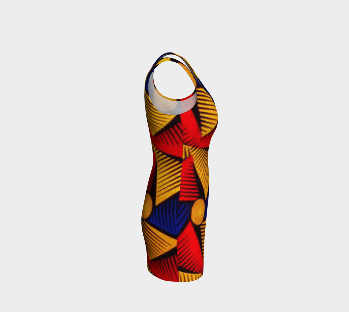 Aperçu de African Print bodycon dress #4