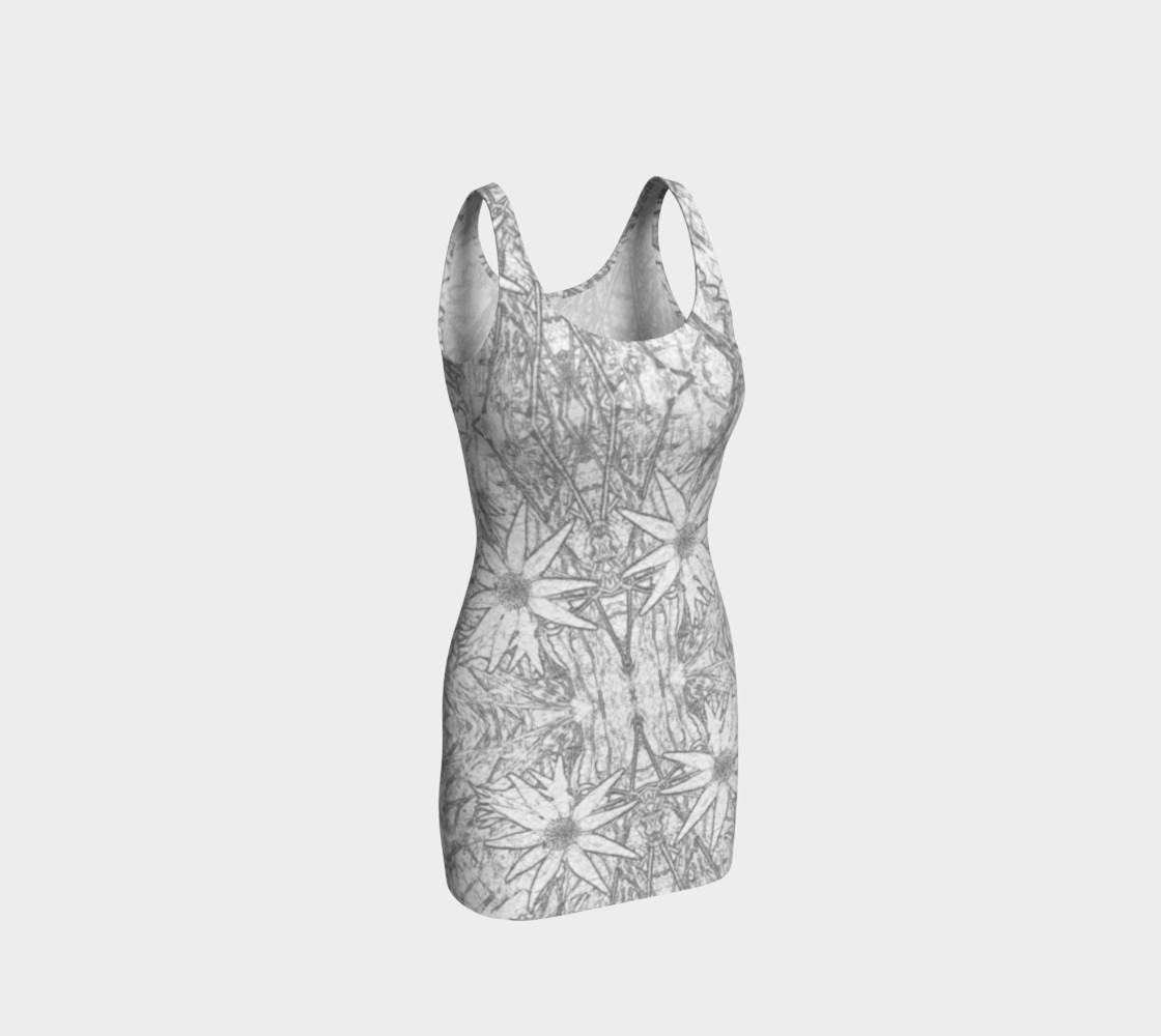 Flannel Flower Light fitted dress preview #1