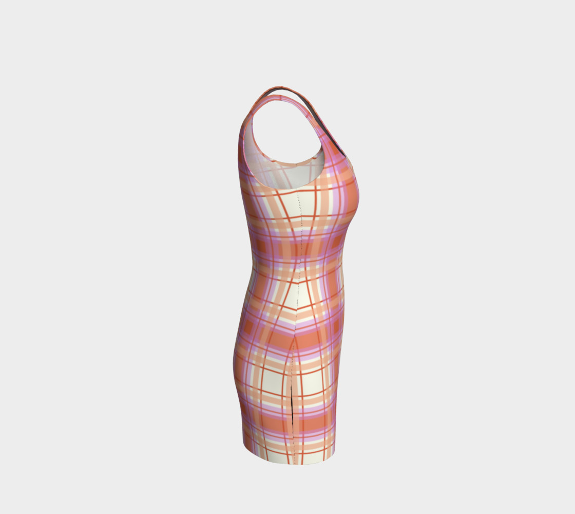 Plaid in Peach, Yellow and Pink preview #4