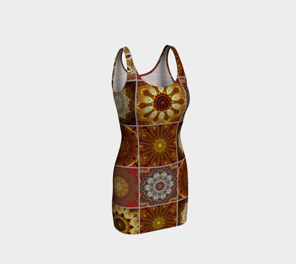 Golden Thai Crazy Quilt Bodycon Dress preview #1