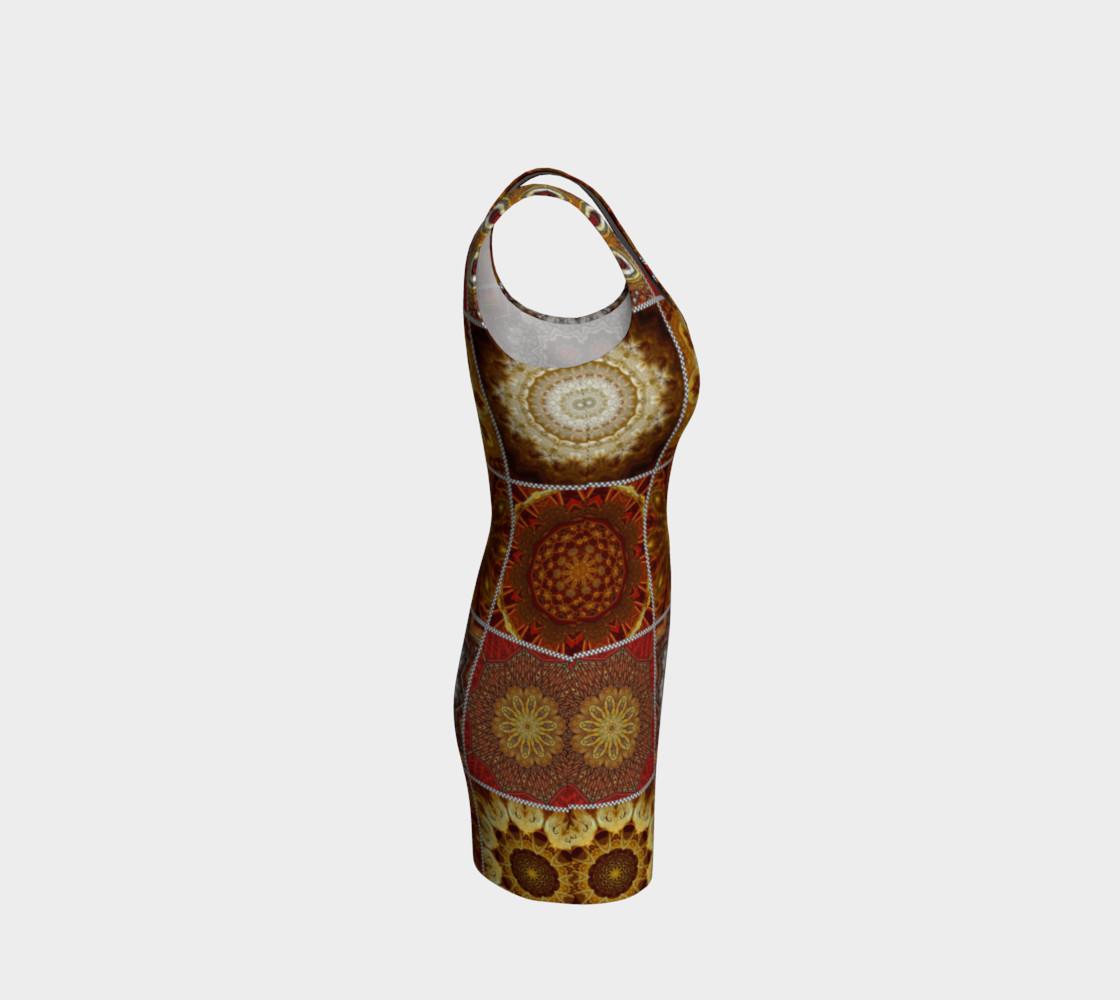 Golden Thai Crazy Quilt Bodycon Dress preview #4
