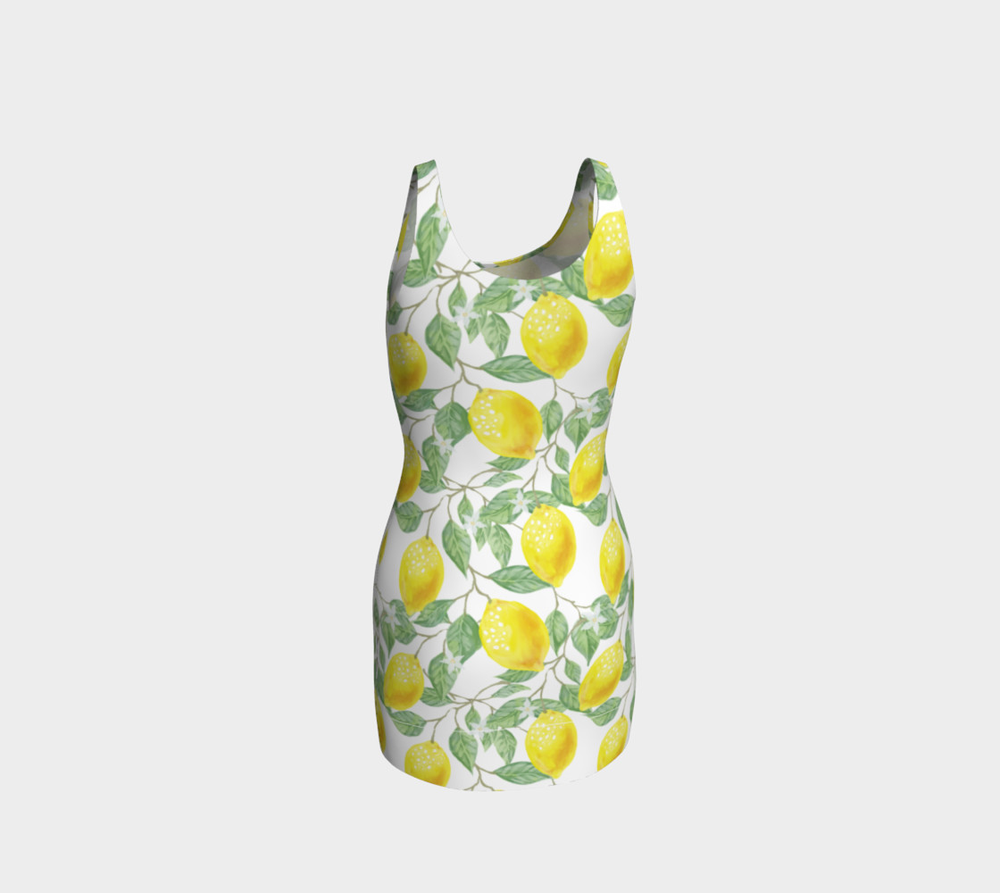 Life gives You Lemons Bodycon Dress preview #3