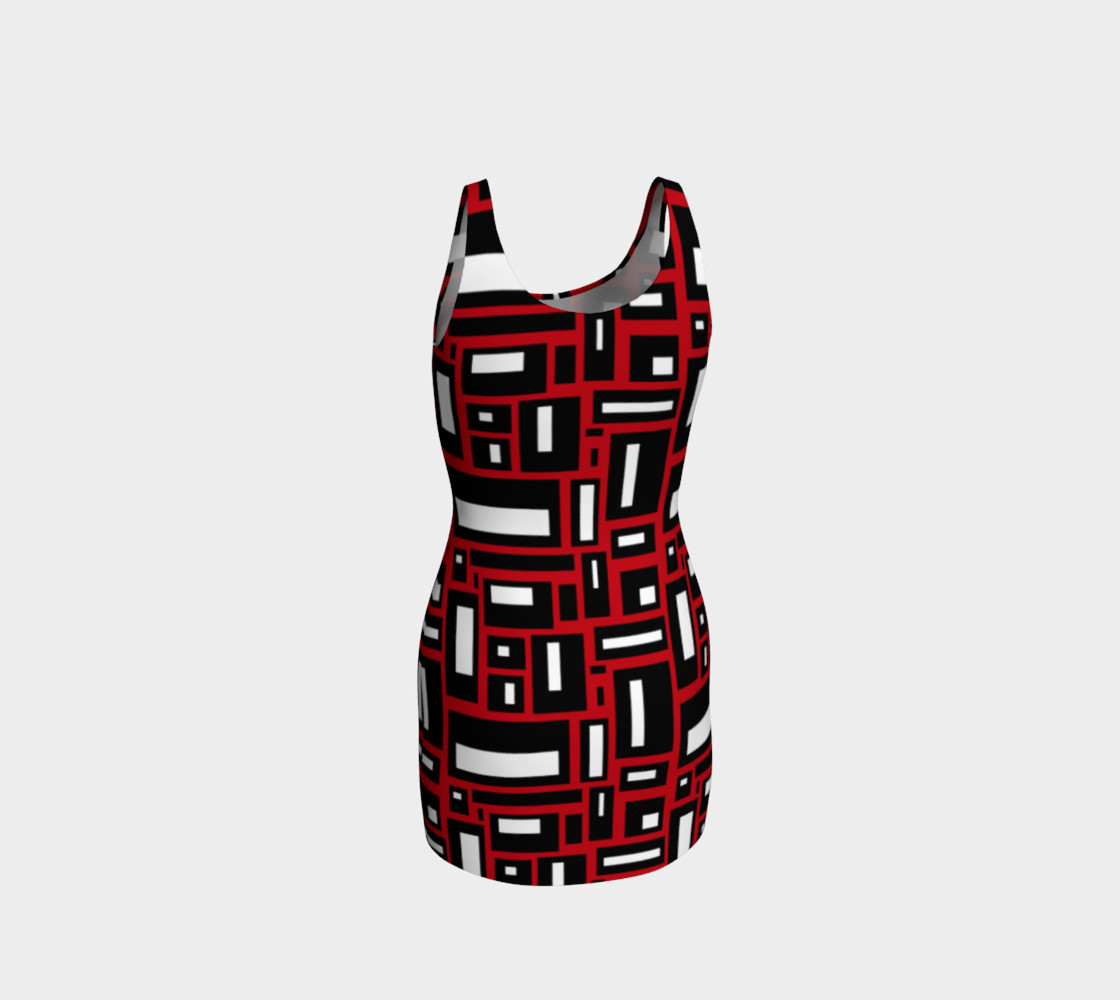 Simple Geometric in Black, White and Red 1 preview #3