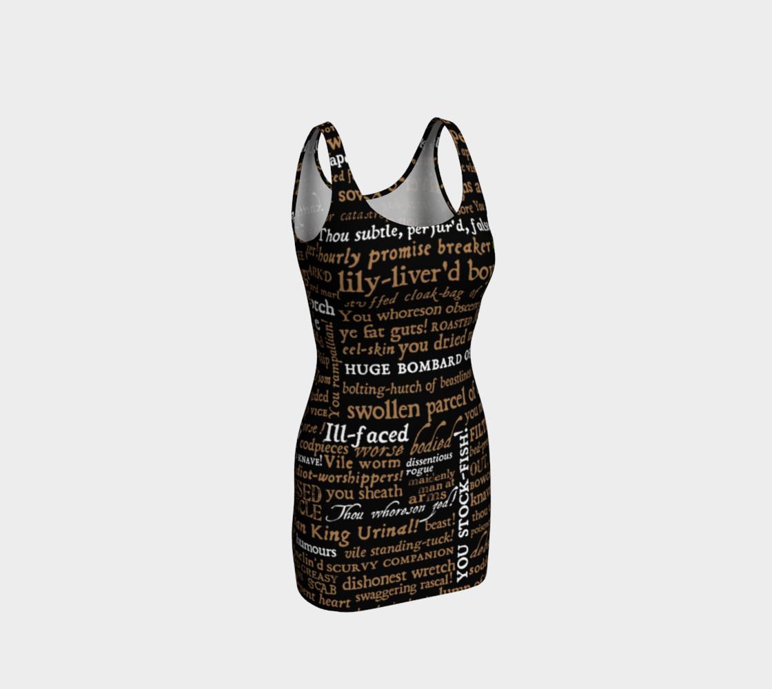 Aperçu de Shakespeare Insults Collection Bodycon Dress #1