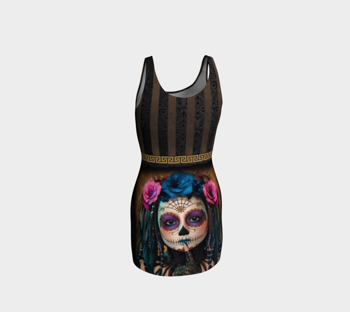 Aperçu de Sugar Skull Yoga Bodycon Dress #3