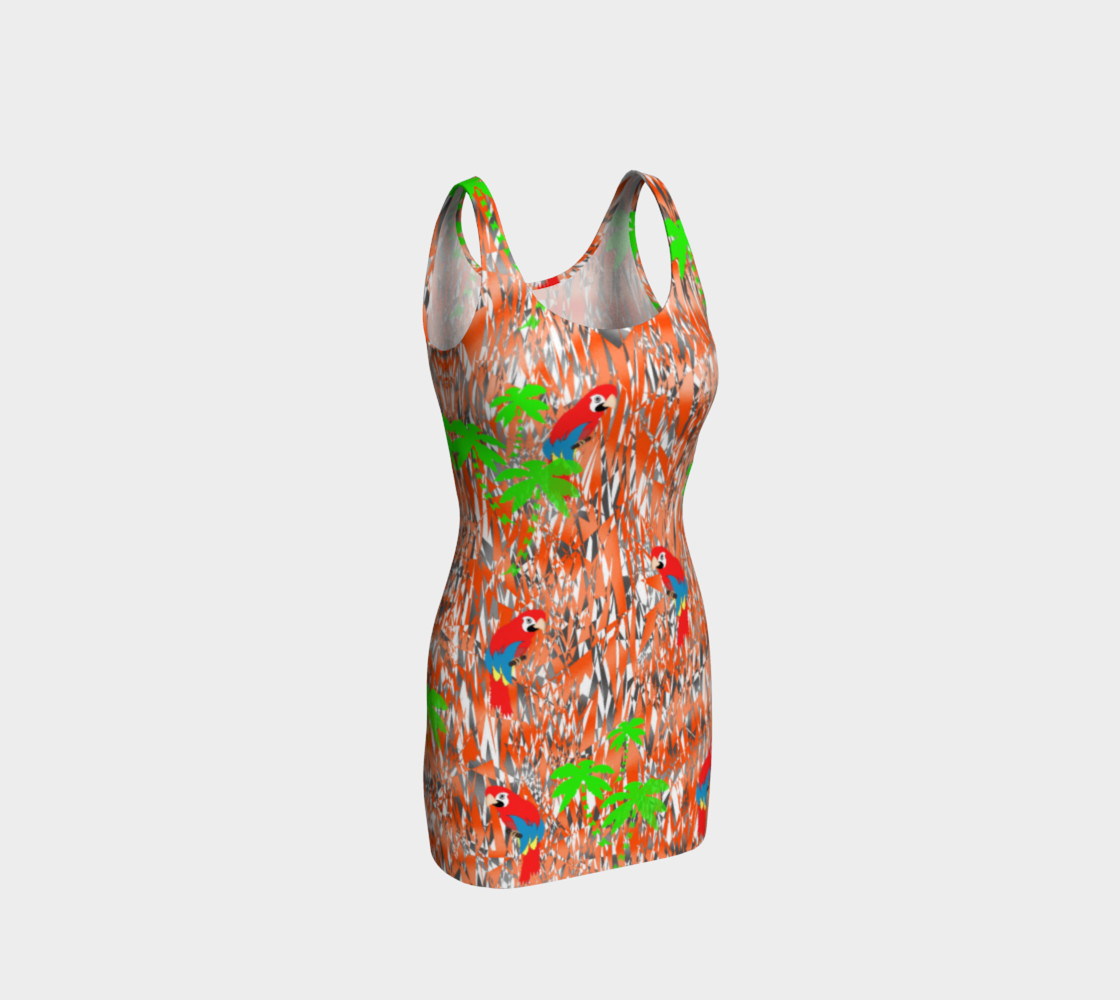 Tropical Summer Holiday Print Dress preview #1
