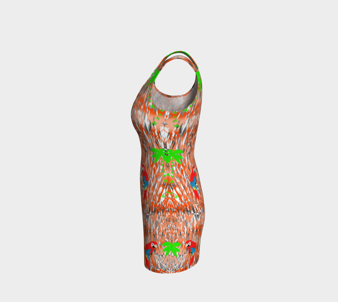 Tropical Summer Holiday Print Dress preview #2
