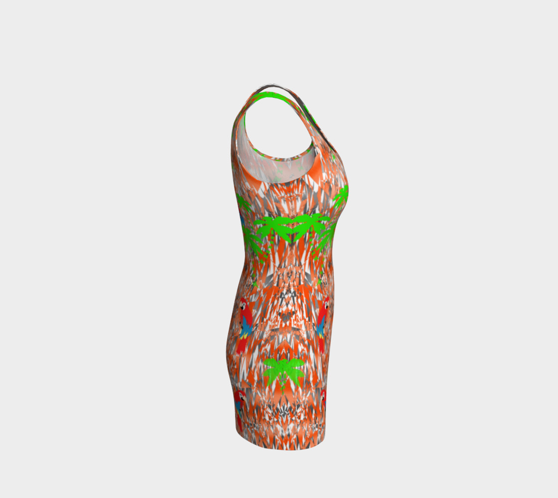 Tropical Summer Holiday Print Dress preview #4
