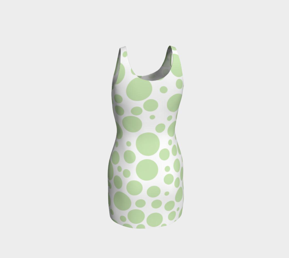 Aperçu de GREEN Polka Dots Bodycon Dress #3