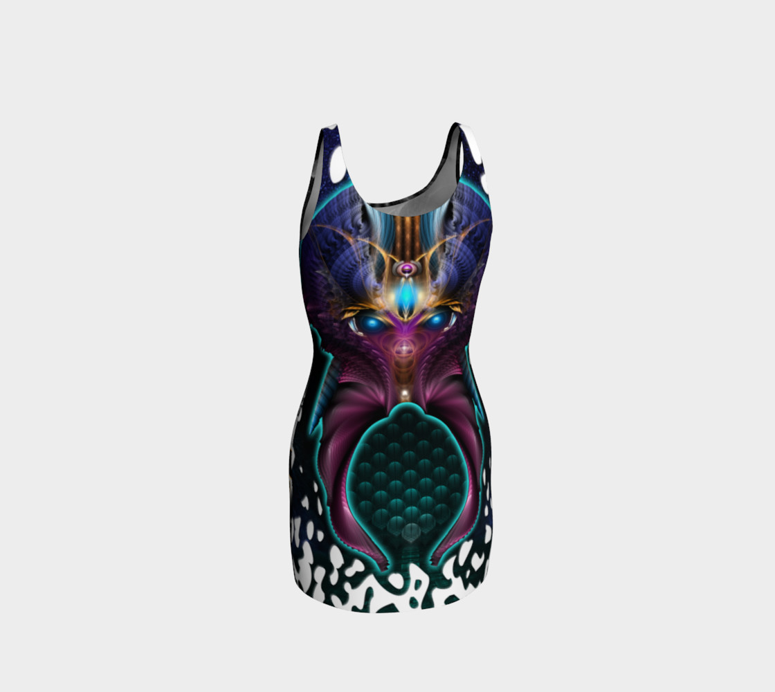 Aliens Invade 4 Beer Galaxy Attack - The Orkolon Bodycon Dress preview #3
